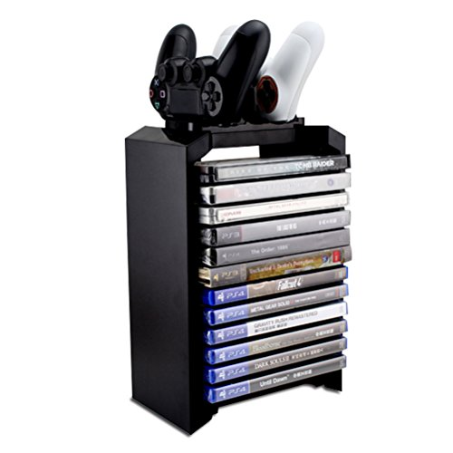 Ps4 Games Charger Storage Tower Playstation 4 Controller